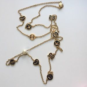 Vintage Juicy Couture Chain & Charm Necklace